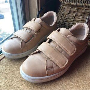 Calvin Klein Blush Nude Double-Strap Sneakers